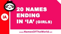 20 girl names ending in IA - the best baby names - www.namesoftheworld.net