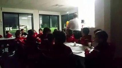 LA CHANSON ET LES BOUGIES SOUFFLÉES DE NOS U11. NOV2018