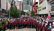Anti-ICERD protesters march towards Dataran Merdeka