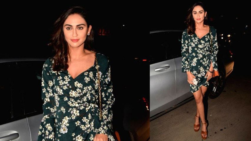 Krystle D'Souza in Green Floral dress is a Perfect look for evening date!   Boldsky