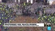 Mouvement des #GiletsJaunes :  Premiers heurts et tirs de gaz lacrymogène à proximité des Champs-Élysées