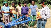 Land cultivation, bed making, seed sowing, same machine-bed planter