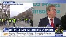 """Gilets jaunes: Jean-Luc Mélenchon estime que le calme de la situation """"marque un échec du pouvoir"""""""