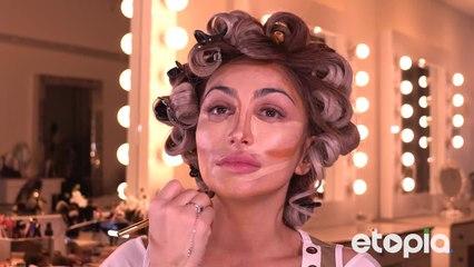 Maquiagem estilo Hollywood retrô.
