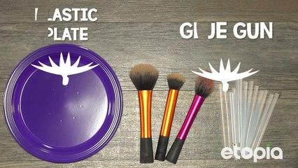 No more dirty makeup brushes!