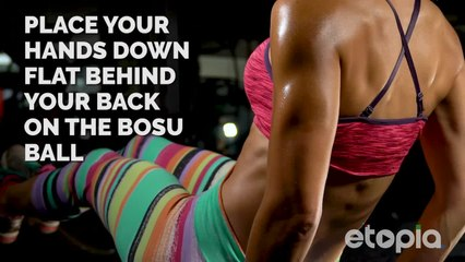 Flat belly with bosu ab workout