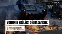 Autour des Champs-Elysées, de violents heurts entre les casseurs et la police