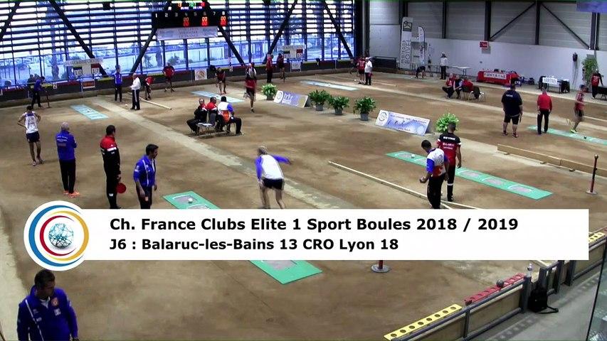Troisième tour, tir rapide en double, France Club Elite 1, J6, Balaruc-les-Bains contre CRO Lyon,  saison 2018/2019