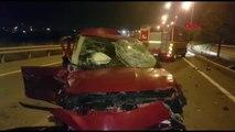 Manisa'da Takla Atan Otomobildeki Sürücü Yaralandı