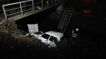 Düzce Otomobil Köprüden Sulama Kanalına Düştü 3 Yaralı
