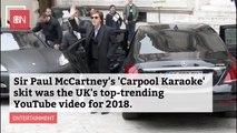 Nothing More Popular Than Sir Paul McCartney On Carpool Karaoke