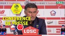 Conférence de presse LOSC - Stade de Reims (1-1) : Christophe  GALTIER (LOSC) - David GUION (REIMS) / 2018-19