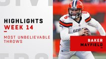 Baker Mayfield's most unbelievable throws vs. the Panthers | Week 14
