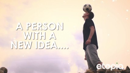 A person with a new idea