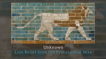 Unknown - Lion Relief from the Processional Way
