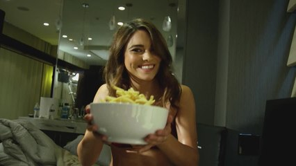 Sports Illustrated Model EATS French Fries