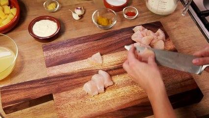 Pollo Y Pina Al Curry Con Arroz