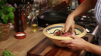 Naneli Narlı Yoğurtlu Kıyma Kebabı