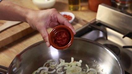 Crema de pollo al pimenton