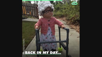 Babies dressed as old people is our favorite Halloween trend of all time!