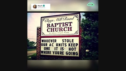 Here are the funniest church signs of all time!