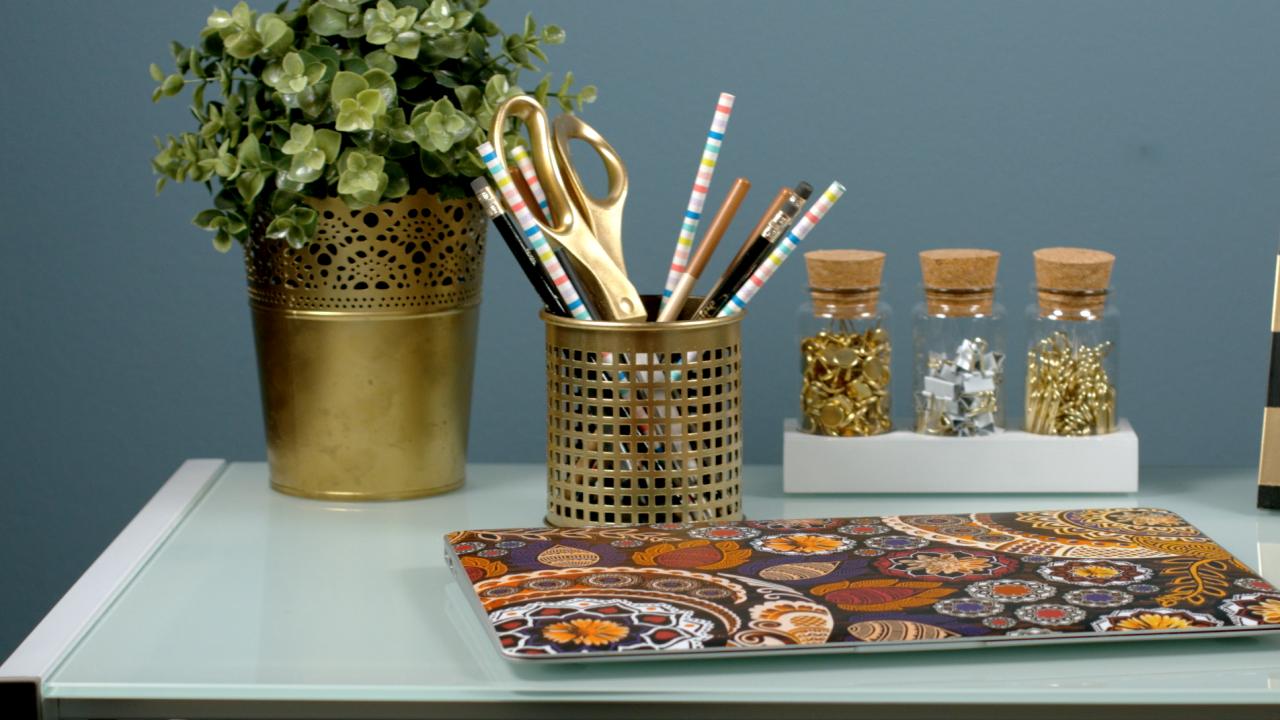 Gold Desk Accessories