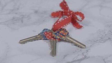 15 Second Fix: Washi Keys