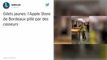 L'Apple Store de Bordeaux entièrement pillé par des casseurs.