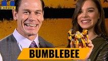BUMBLEBEE zu gewinnen! John Cena und Hailee Steinfeld bauen Bumblebee für euch!