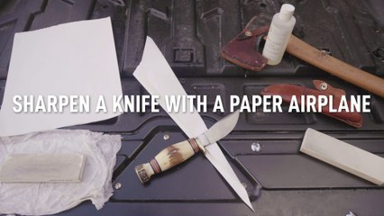 Sharpen Your Knife with a Paper Airplane