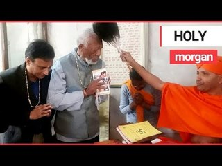 Morgan Freeman is Blessed by a Holy Man in Nepal | SWNS TV