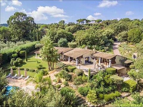 Golfe de st Tropez - Vente villa Gassin (83580) - 250 m² sur Jardin méditerranéen 4004 m²