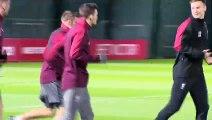 Liverpool train ahead of Napoli UEFA Champions League meeting