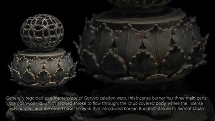 Celadon Incense Burner with openwork seven auspicious design 1100 - 1200 C.E.