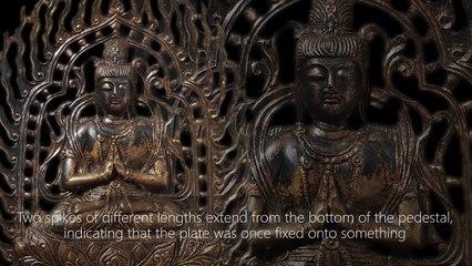 Gilt-bronze Seated Bodhisattva Image 668–935 C.E.