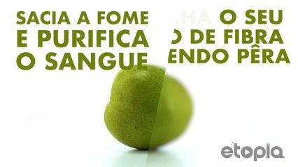Enche seu corpo de fibra comendo pera.