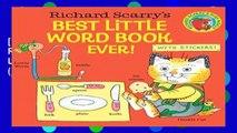 [D.O.W.N.L.O.A.D] P.D.F Richard Scarry s Best Little Word Book Ever! (Random House Picturebacks)
