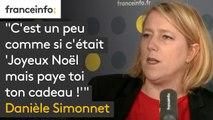 """Danièle Simonnet : """"C'est un peu comme si c'était 'Joyeux Noël mais paye toi ton cadeau !'"""""""