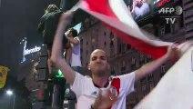 Les supporteurs de River Plate fêtent la victoire à Buenos Aires