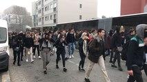 Les lycéens en route vers le lycée Jean Macé à Rennes