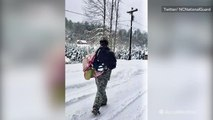 National guard rescues people, delivers food during snow storm