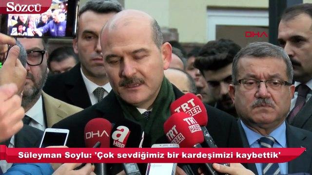 İçişleri Bakanı Süleyman Soylu: 'İlk ifadesini verdi'