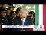 El presidente López Obrador se reune con las fuerzas armadas   Noticias con Zea
