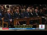 El último adiós a George H.W. Bush; Donald Trump ignoró a Hillary Clinton | Noticias con Ciro