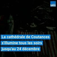 Une fresque vidéo sur la façade de la cathédrale de Coutances