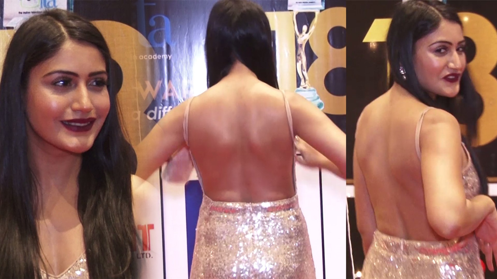 Ishqbaaz's Surbhi Chandna looks beautiful in silver backless dress at ITA  Awards; Watch | Boldsky - video dailymotion