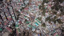 Nainital hill station aerial view - crowded and over-built to the gills