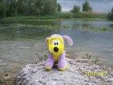 Kiki chien mauve au Lac du Der les negresses vertes