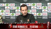 Europa League. Stade Rennais F.C. / Astana : Conférence de presse