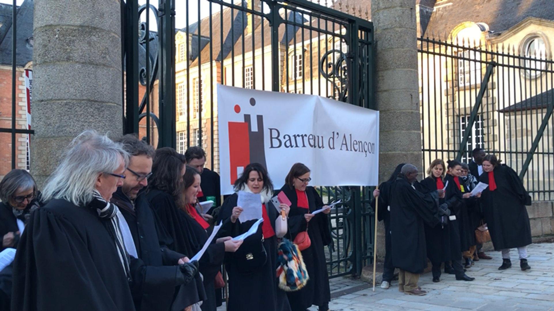 Manifestation des avocats contre la réforme de la justice